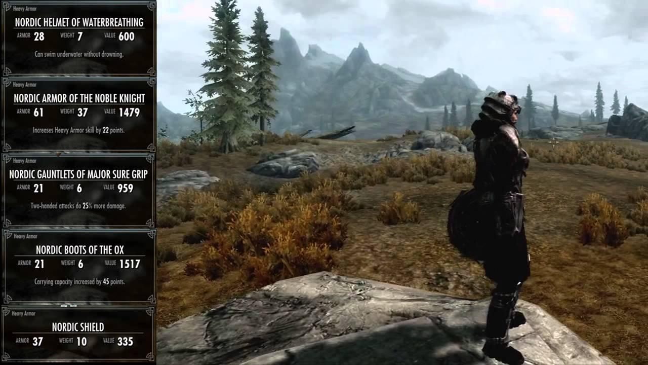 Skyrim - All Dragonborn Heavy Armor (Female) - YouTube