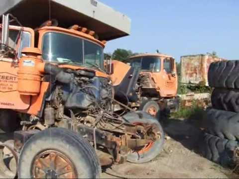 Lots Of Mack Trucks And Some Other Old Stuff Youtube