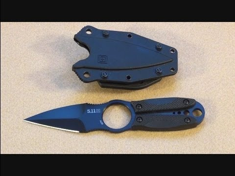 5 11 Tactical Sidepick Spearpoint Boot Knife Review Youtube
