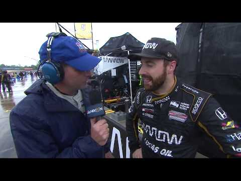 James Hinchcliffe's 'Wet' NBCSN Interview During Red Flag at Barber Motorsports Park