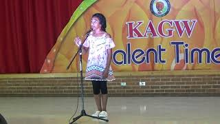 2018 KAGW Talent Time Tessa Malayalam Kavitha (poetry)