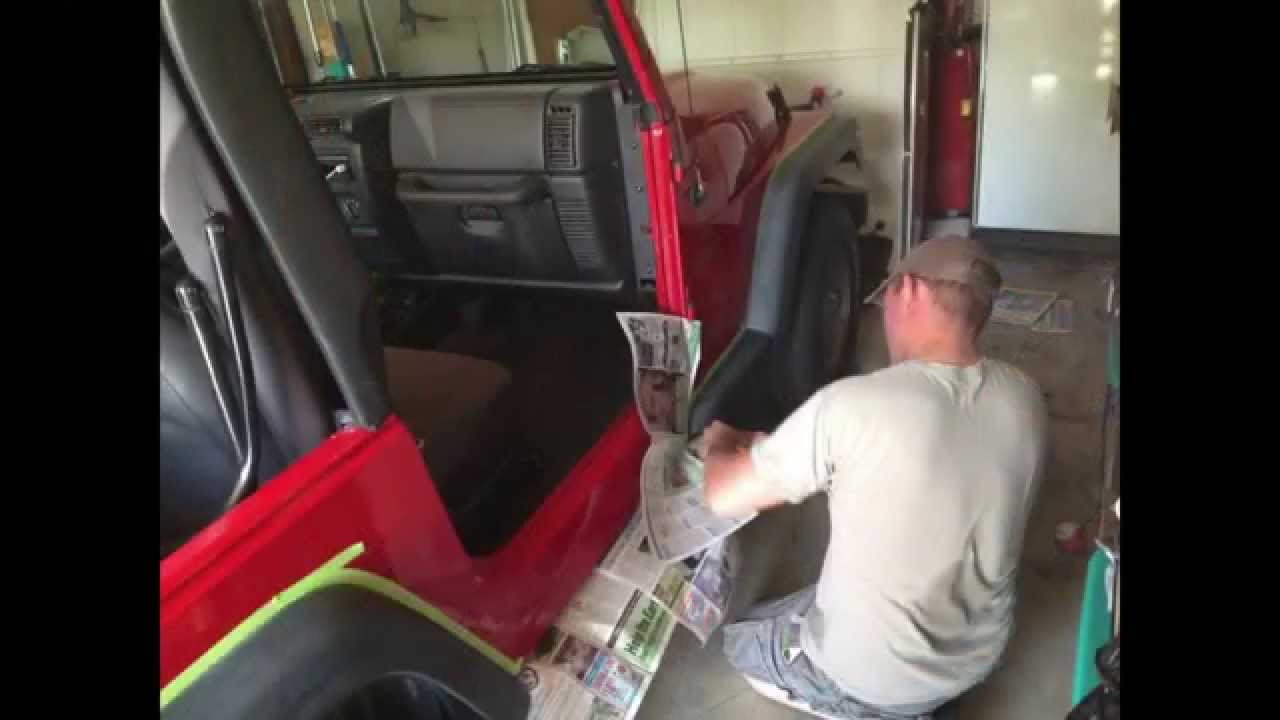 Painting Fenders DIY using OEM Dupli-Color Trim Paint - YouTube