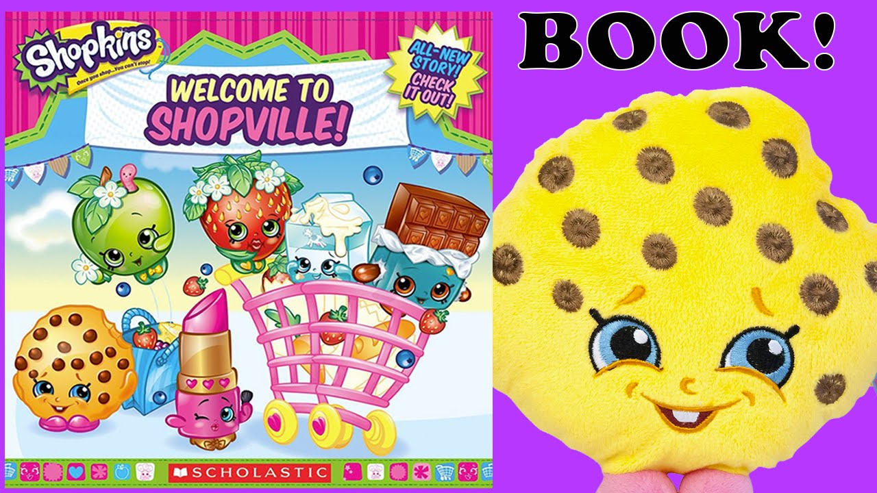 NEW SUPER SHOPKINS BOOK - WELCOME TO SHOPVILLE! SHOPKINS PLAY A ...