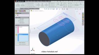 Slots on a Cylindrical Surface - SolidWorks Tutorials Q&A