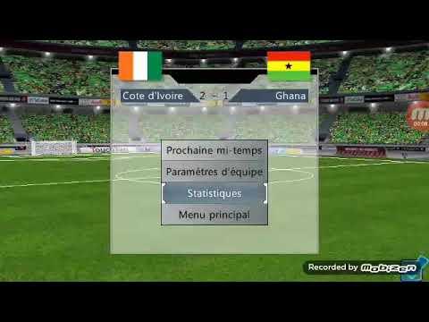 Jeu football de vainqueur : Côte d'Ivoire vs Ghana 2ème mi temps