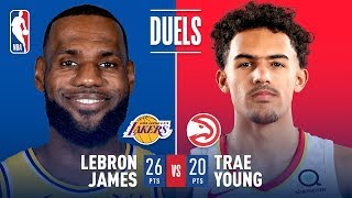 LeBron James and Trae Young Battle In First Career Matchup | November 11, 2018