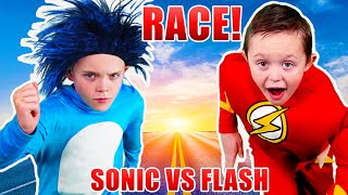 Sonic the Hedgehog VS the Flash! Race!