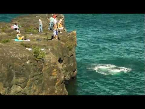 Cliff Jumping in Michigan into Lake Superior  - YouTube