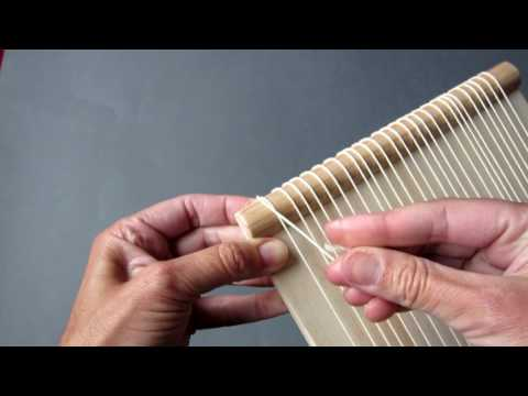 How to warp a loom - weaving lessons for beginners