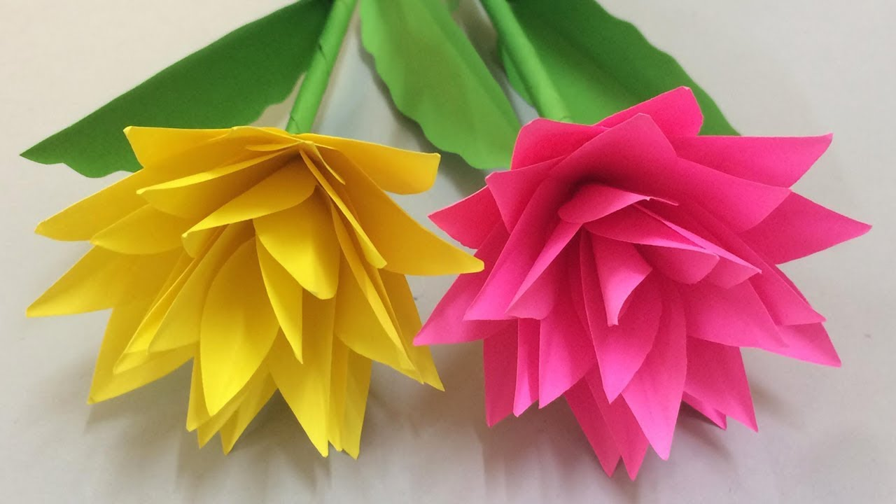 How To Make Beautiful Paper Flower Making Paper Flowers Step By Step Diy Paper Flowers