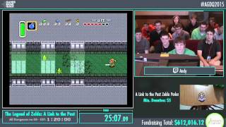 Awesome Games Done Quick 2015 - Part 153 - The Legend of Zelda: A Link to the Past by Andy