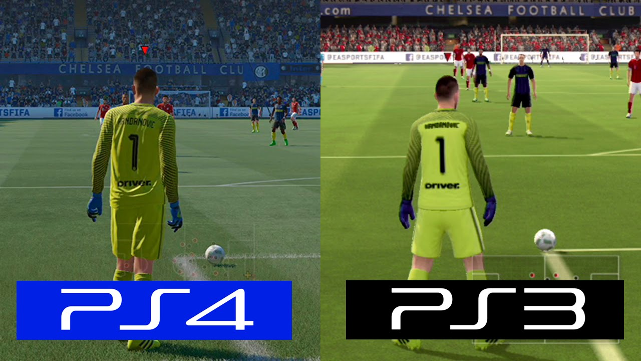 fifa 17 ps4 vs ps3 graphics comparison youtube