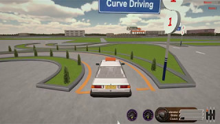 Curve driving on car simulator - www.cardrivingsimulator.in