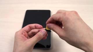 How to Insert the Micro SIM Card on ASUS Google Nexus 7