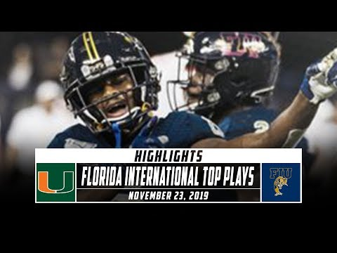 Florida International Football Top Plays Vs. Miami (FL) (2019) | Stadium