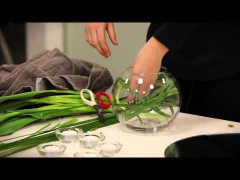 How To: Make A Table Flower Arrangement Using A Fishbowl