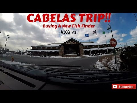 Buying A New Fishfinder From Cabelas!! VLOG #3