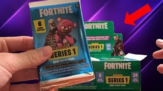 Opening a Fortnite series 1 Booster Box! (24 packs)