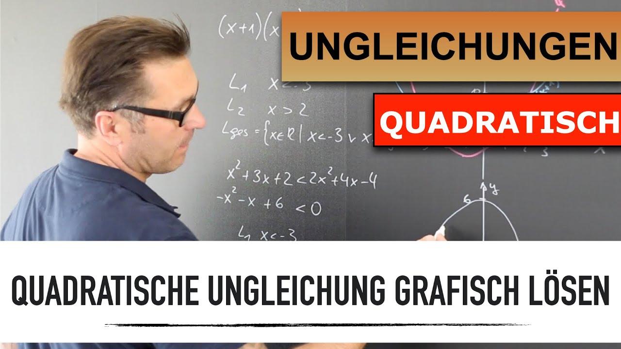 Wie löse ich eine Quadratische Ungleichung grafisch