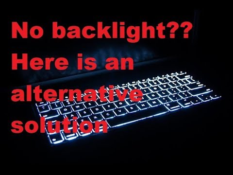 No backlight in your keyboard ? Glow fluorescent keyboard sticker