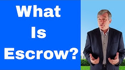 What is escrow?  Managing the buying or selling of a home.