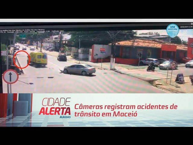 Flagrante: Câmeras registram acidentes de trânsito em Maceió