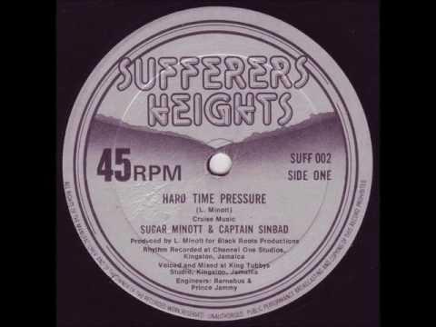 "Sugar Minott & Captain Sinbad - Hard Time Pressure + Dub - 12"" Sufferers Heights 1979 - KILLER ROOTS"