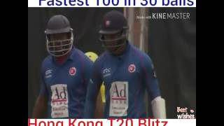 dwayne smith fastest 100 in 30 balls   hong kong t20 blitz 2017   121 runs in 40 balls