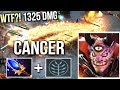 WTF Cancer Lion 1325 DMG Finger New Imba Talent Tree vs Invoker Mid Gameplay by Wagamama Dota 2