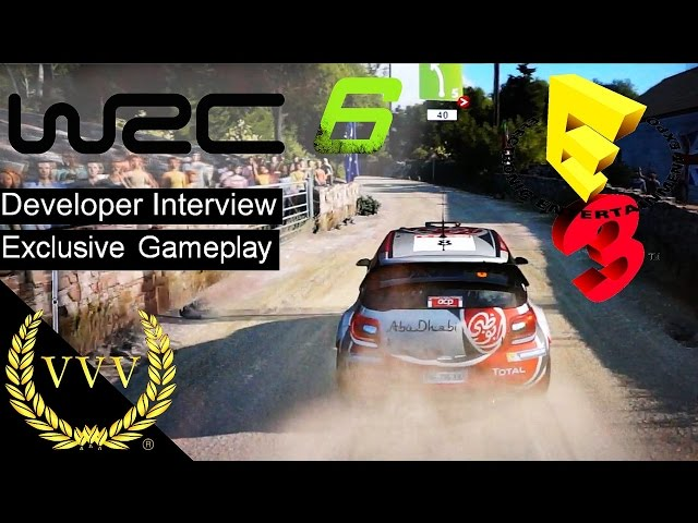 WRC 6 Gameplay and Developer Chat E3 2016