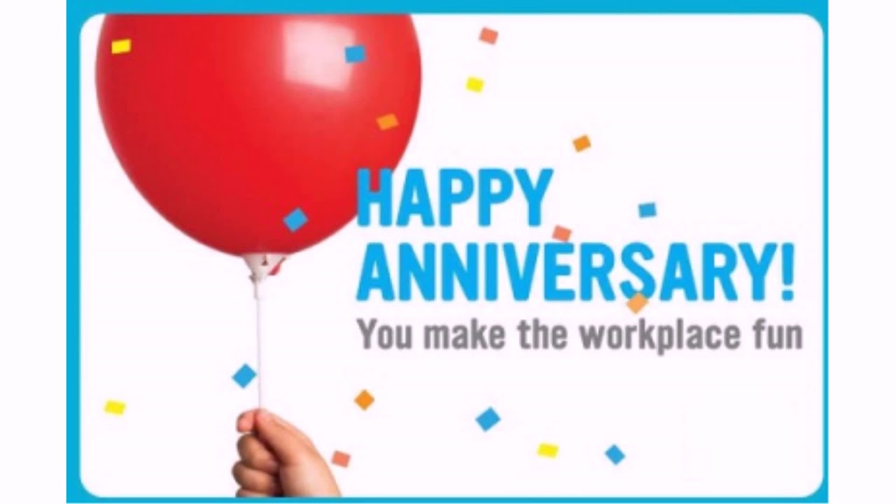 Best Work Anniversary Quotes and Wishes - YouTube