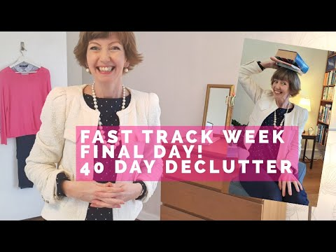 40 Day Declutter - Books! Back On Track With A Fast Track Week! Flylady Basics, Day Five