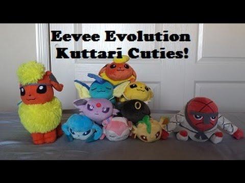 Plush Review: Eevee Evolution Kuttari Cuties