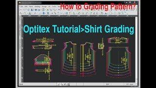 Optitex Grading Tutorial | Optitex Shirt Pattern Grading | Pattern Grading By Optitex Software
