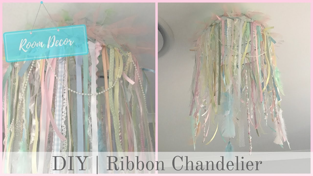 simple craft chandelier ideas to make how ribbon