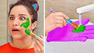 COOL DIY WAYS TO REUSE OLD MAKE UP || Fun Ways To Fix And Reuse Makeup by 123 GO!