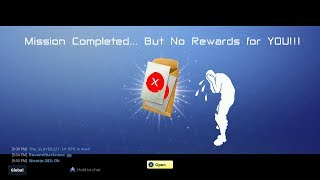 Fortnite: Save The World - Not Receiving Mission Rewards (08/30/2018)