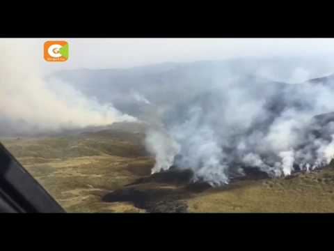 600 hectares of Aberdare forest destroyed by fire