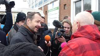 Appingedam, 14 januari 2019; ontvangst minister Wiebes.