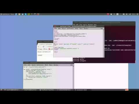 The simplest possible HTML5 WebSockets client and Node.js server talking!