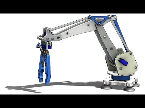 SolidWorks Tutorial # 310: Robotic arm (layout design, mate controller)
