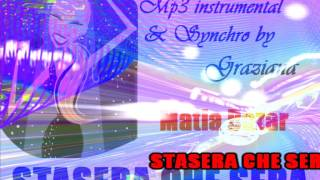 STASERA CHE SERA Matia Bazar karaoke Back instrumental edit by ©Graziana