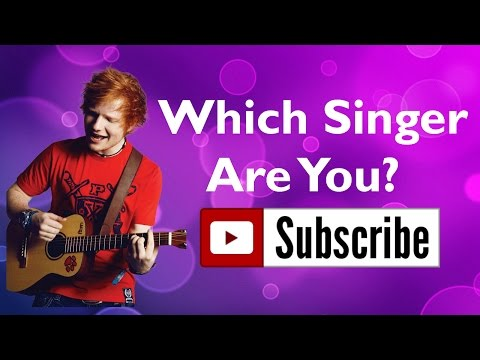 Are You Ed Sheeran? | Which Singer Are You Quiz