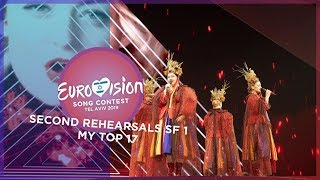 Eurovision 2019 - Second Rehearsals [Semi-final 1] - My Top 17