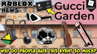 [EVENT] The Gucci Garden Is Open In Roblox...and Everybody Hates It!