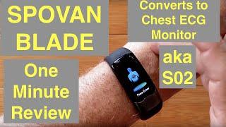 SPOVAN شفرة Smartwatch/الفرقة كل هذا: ECG/نبض/BP/HRV/توقف التنفس أثناء النوم/O2/أكثر: دقيقة واحدة عامة