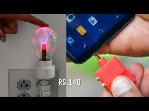 5 AMAZING SMARTPHONE GADGETS INVENTION ▶ Rs.140 Plasma Lamp You Can Buy in Online Store