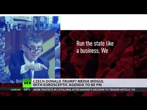 'Czech Donald Trump' Media Mogul With Euroskeptic Agenda To Be PM