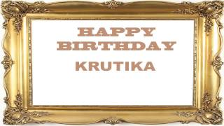 Krutika   Birthday Postcards & Postales - Happy Birthday