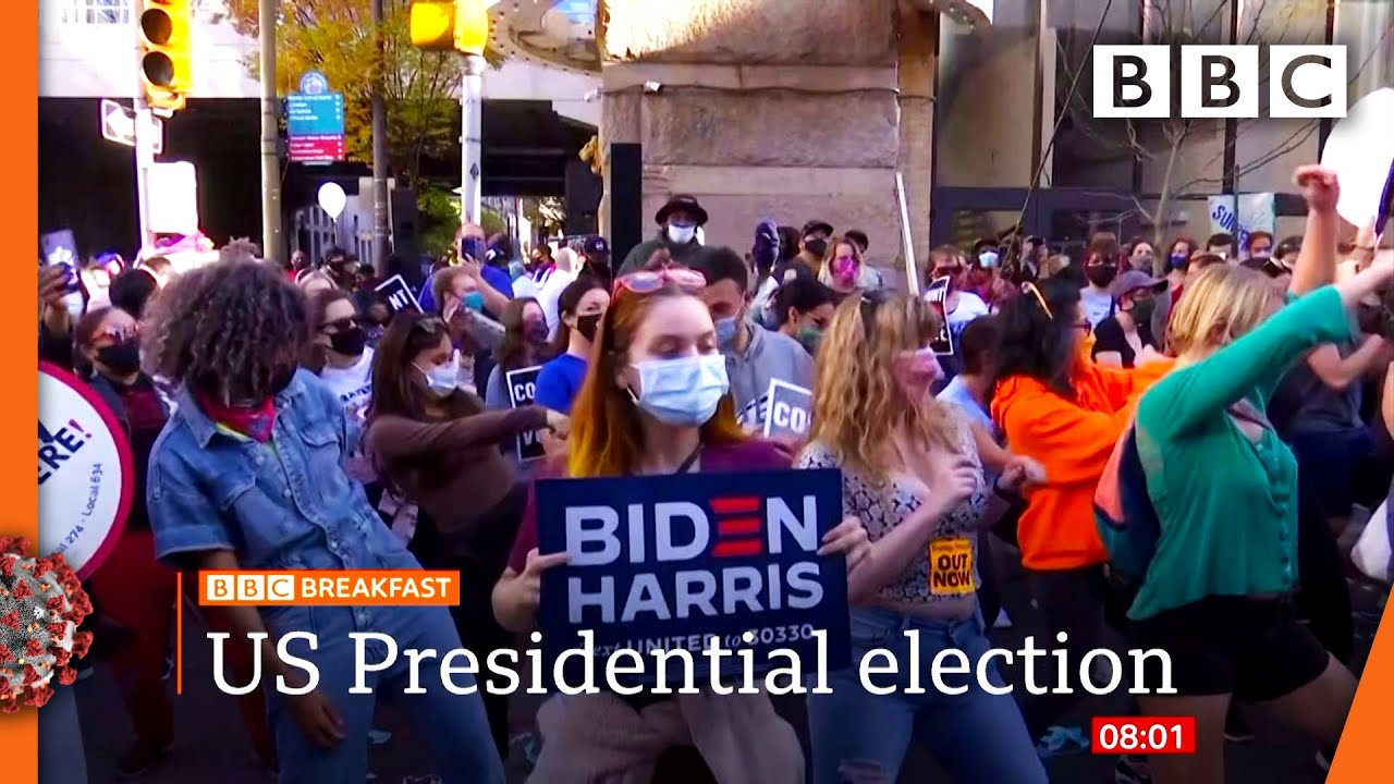 Biden supporters party as he leads in Pennsylvania ?? US Election @BBC News live - BBC